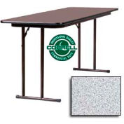 "Training-Seminar Table, Off-Set Folding Leg, 24""x 72"", Gray Granite Top"