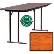 """Correll Folding Seminar Table - Laminate - 24""""x 72"""" - Medium Oak"""