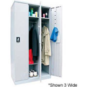 "Sandusky Snapit  Boltless Steel Locker KDCL7212/1 Single Tier - 12""x18""x72"" Gray, Unassembled"