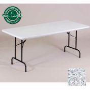 "Correll Folding Table - Blow Molded - 30"" x 96"", Gray Granite"