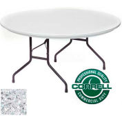 "Blow-Molded Commercial Duty Folding Table 60"" Round, Gray Granite"
