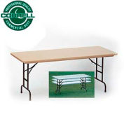 "Blow-Molded Commercial Duty Adjustable Ht. Folding Table 30"" x 72"" Mocha Granite"