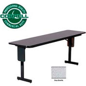 "Training - Panel Leg, Folding Table. 18"" x 60"", Gray Granite Top"