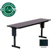 """Training - Panel Leg, Folding Table. 18"""" x 72"""", Black Granite Top"""