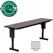 "Correll Folding Seminar Table - 18"" x 72"" - Gray Granite"
