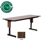 "Correll Folding Seminar Table - 24"" x 60"" - Walnut"