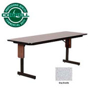 "Training - Panel Leg, Folding Table. 24"" x 72"", Gray Granite Top"