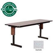 "Correll Folding Seminar Table - 24"" x 96"" - Gray Granite"