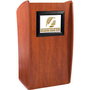 The Vision' Mobile Presentation Lectern with Built-In LCD Screen