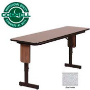 "Correll Folding Seminar Table - Adjustable Height - 24""x72"" Gray Granite"