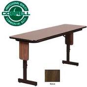 "Correll Folding Seminar Table - Adjustable Height - 24""x72"" Walnut"