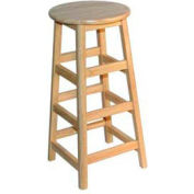 "30"" High Hardwood Stool"