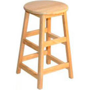 "24"" High Hardwood Stool"