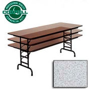 "Commercial Duty Folding Table, Adjustable Height 30"" x 60"" Gray Granite Top"