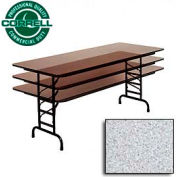 "Commercial Duty Folding Table, Adjustable Height 30"" x 96"" Gray Granite Top"