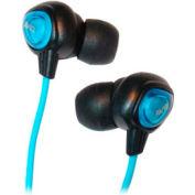 Waterproof Digital Earbuds with 4' Cord, Blue