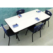 """Whiteboard Activity Table 24"""" x 48"""" Rectangle, Juvenile Adjustable Height"""