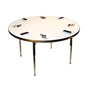 "Whiteboard Activity Table 36"" Diameter Circle, ADA Compliant Adjustable Height"