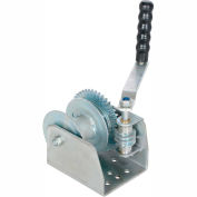 Vestil Wall Mounted Hand Winch Single-Line Drum WALL-S 1500 Lb. Capacity