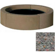 "44"" Dia. Concrete Fire Ring, Weather Stone French Gray"