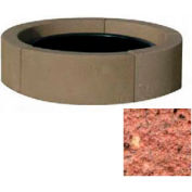 "44"" Dia. Concrete Fire Ring, Weather Stone Brick Red"