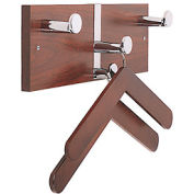 Executive Laminate Wall Costumer with Chrome Knobs & 2 Hangers, Mahogany