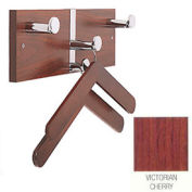 Executive Laminate Wall Costumer with Chrome Knobs & 2 Hangers, Victorian Cherry