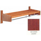 2' Width Stained Hardwood Wall Mounted Coat Rack, Victorian Cherry