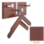 Executive Laminate Wall Costumer with Chrome Knobs & 2 Hangers, Walnut