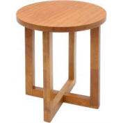 "21"" Round End Table - Medium Oak Finish"