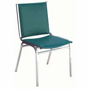"""Durable Multi-Purpose Armless Stack Chair - 1"""" thick Seat Forest Vinyl"""