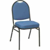 Heavy Duty Banquet Stacking Chair - Blue Fabric /Black Frame