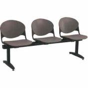 KFI Beam Seating - 3 Charcoal Seats