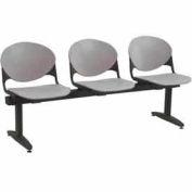 KFI Beam Seating - 3 Cool Gray Seats