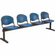 KFI Beam Seating - 4 Navy Seats