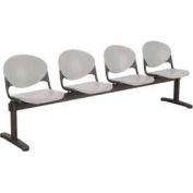 KFI Beam Seating - 4 Cool Gray Seats