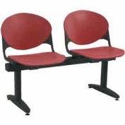KFI Beam Seating - 2 Burgundy Seats