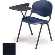 Designer Stacking Arm Chair Desk w/ Right Handed Tablet - Charcoal Seat & Back