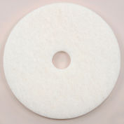 "17"" White Polishing Pad - 5 Per Case"