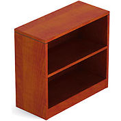 1 Shelf Bookcase in Dark Cherry - Executive Modular Furniture