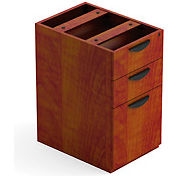 3 Drawer Pedestal in Dark Cherry - Executive Modular Furniture