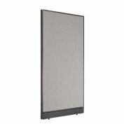 "Office Partition Panel with Raceway, 36-1/4""W x 64""H, Gray"