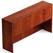 66 Inch Overhead Hutch with Doors in Dark Cherry - Executive Modular Furniture