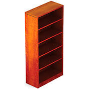 4 Shelf Bookcase in Dark Cherry - Executive Modular Furniture