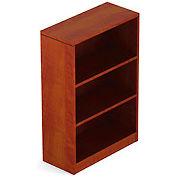 2 Shelf Bookcase in Dark Cherry - Executive Modular Furniture