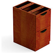 2 Drawer Pedestal in Dark Cherry - Executive Modular Furniture