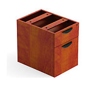 2 Drawer Hanging Pedestal in Dark Cherry - Executive Modular Furniture