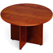 48 Inch Round Conference Table in Dark Cherry - Executive Modular Furniture