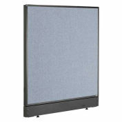 "Office Partition Panel with Raceway, 48-1/4""W x 46""H, Blue"