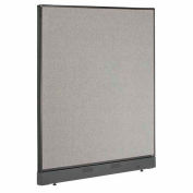 "Office Partition Panel with Raceway, 48-1/4""W x 46""H, Gray"